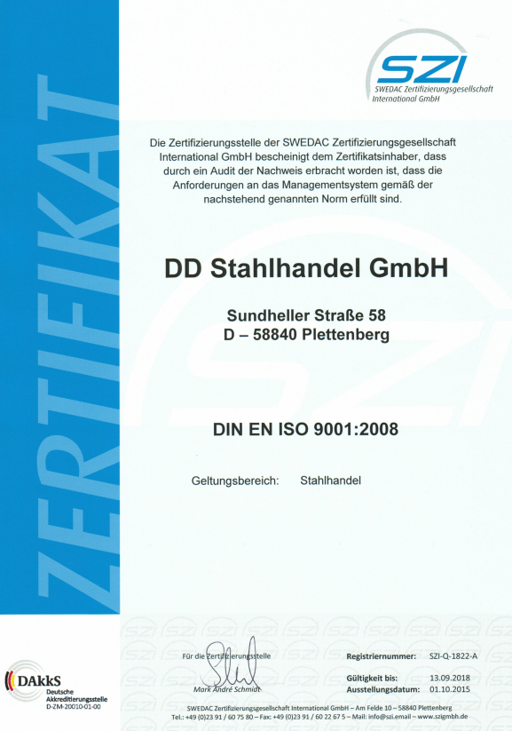 Zertifikat Download